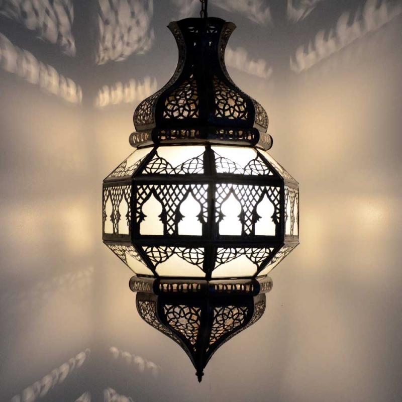 Orientalische Hängeleuchte Marokkanische Lampe Orient Deckenleuchte GHTr/_M H45cm