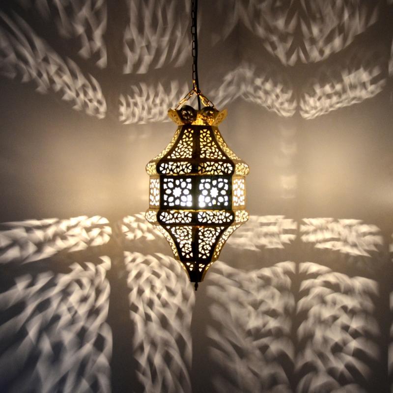 orientalische h ngeleuchte aus messing marokkanische lampe. Black Bedroom Furniture Sets. Home Design Ideas