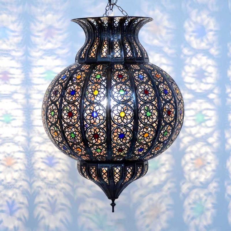 orientalische lampe h ngeleuchte marokkanische orient h ngelampe kkkm h65cm ebay. Black Bedroom Furniture Sets. Home Design Ideas