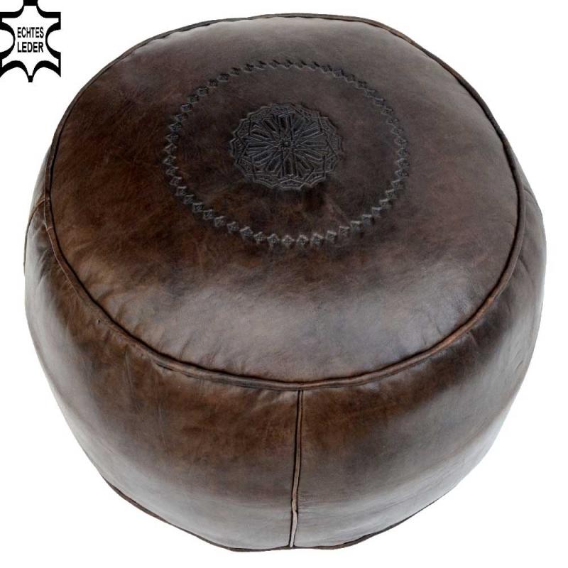 Orient Kissen Leder Sitz Pouf Sitzkissen Pouff orientalische Sitzhocker Ottoman