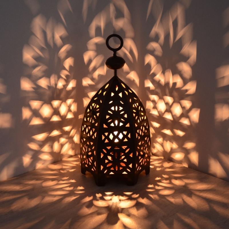 Orientalische laterne schmiedeeisen marokkanische for Marokkanische messinglampen
