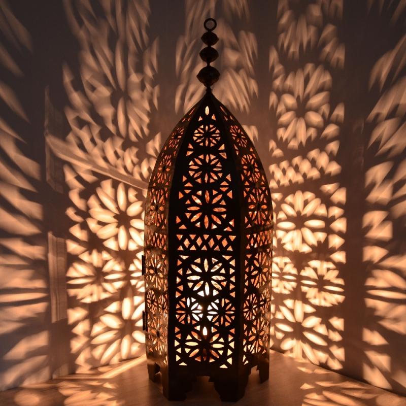 Orientalische eisenlaterne laterne schmiedeeisen for Marokkanische messinglampen