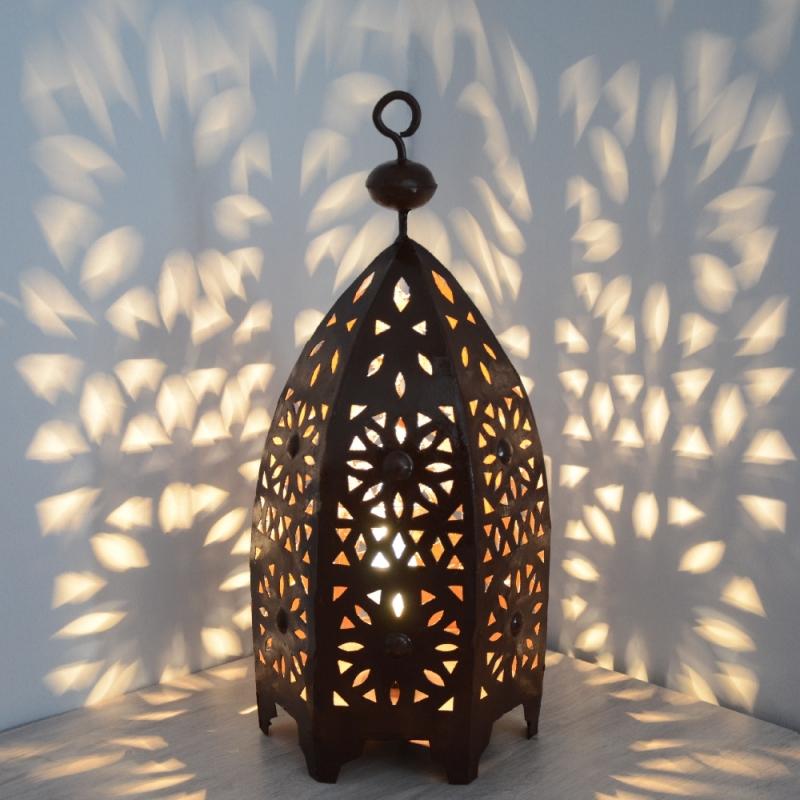 Orientalische laterne eisenlaterne schmiedeeisen for Marokkanische messinglampen