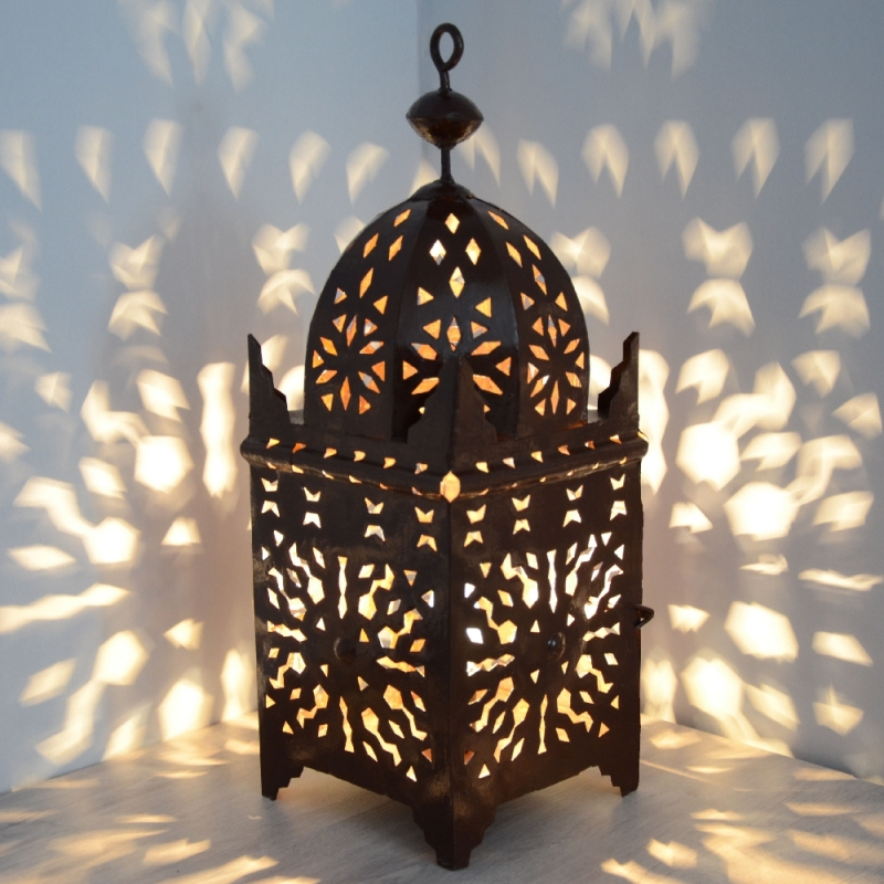 Marokkanische laterne schmiedeeisen orientalische for Marokkanische messinglampen