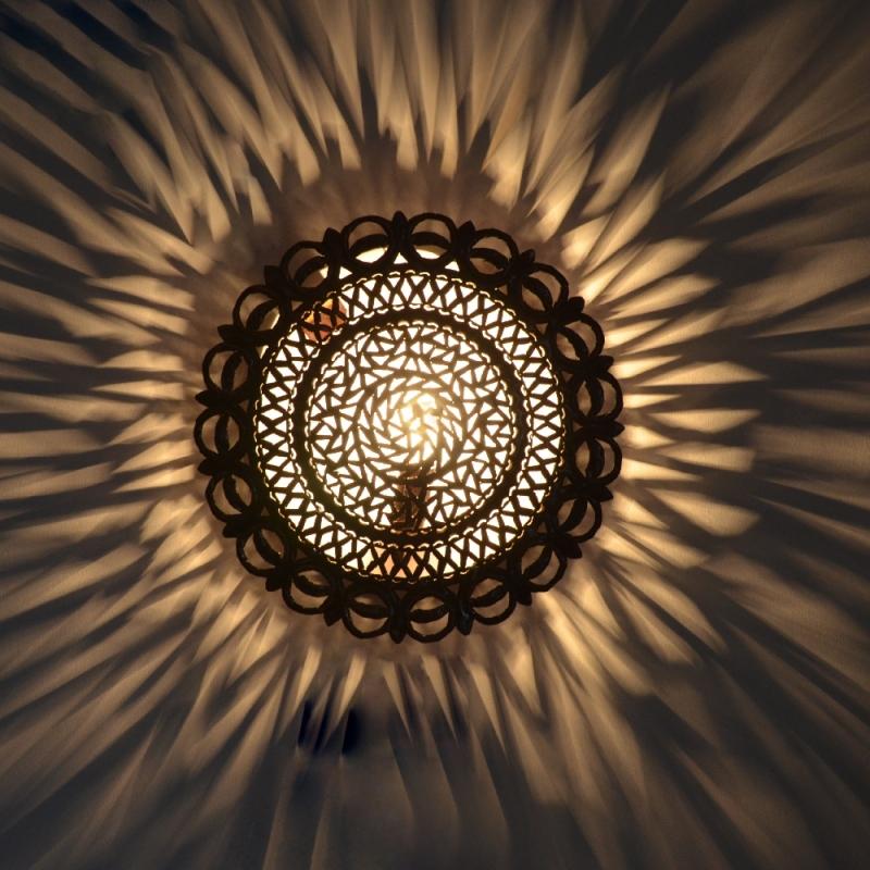 Orientalische wandlampe marokkanische metall wandleuchte for Orientalische wandlampen metall