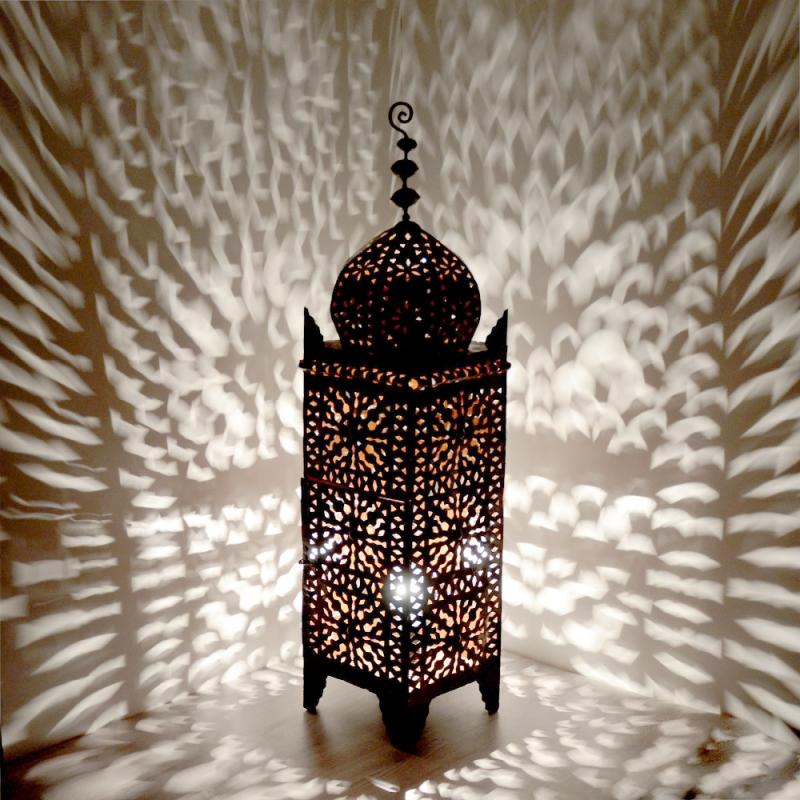 orientalische lampe schmiedeeisen marokkanische laterne eisenlaterne els h105cm ebay. Black Bedroom Furniture Sets. Home Design Ideas